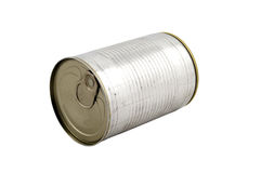 Cylinder Can Box. On isolated white bacgkround Royalty Free Stock Photography