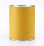 Cylinder Container. On white background stock photos