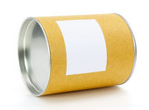 Cylinder Container. With blank label royalty free stock photos