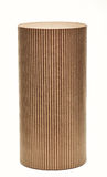 Cylinder Container. Cardboard tube isolated on white background stock photography