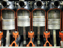 Cylinder - cross section Stock Photo