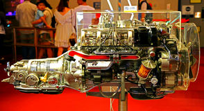 6 cylinder diesel engine Stock Images