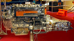 6 cylinder diesel engine Royalty Free Stock Images