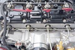 4 cylinder Diesel racing car engine Stock Image