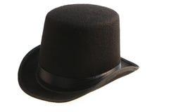 Cylinder för svart hatt Arkivbild