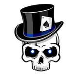 Cylinder hat skull sharpie Stock Photo
