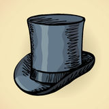 Cylinder hat. Vector drawing Stock Images