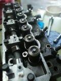 Cylinder head engine. A cylinder head of a diesel car engine Stock Photo