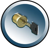 Cylinder key button. For www stock illustration