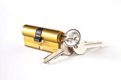 Cylinder with keys Stock Photo