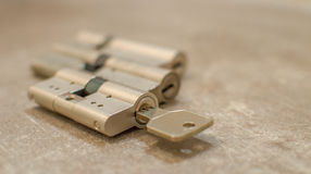 Cylinder lock. With european RS3  radial system Royalty Free Stock Images