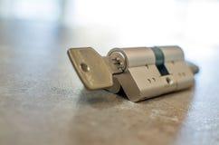 Cylinder lock Stock Photo