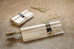 Cylinder lock Stock Images