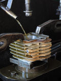 Cylinder motorbike Stock Photo