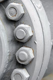 Cylinder nuts and bolts Stock Image