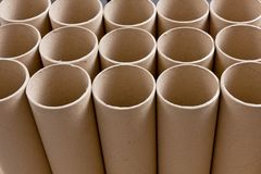 Cylinder paper tube Stock Photos