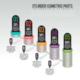 Cylinder Parts Infographic Royalty Free Stock Images