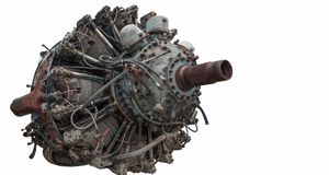 9 cylinder Radial Engine of old airplane Royalty Free Stock Images