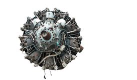 9 cylinder Radial Engine of old airplane Stock Image