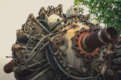 9 cylinder Radial Engine of old airplane Royalty Free Stock Photos