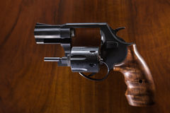Cylinder revolver gun Stock Image