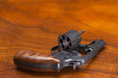 Cylinder revolver gun Royalty Free Stock Image