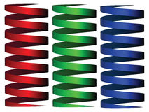 Cylinder rgb ribbons Stock Images
