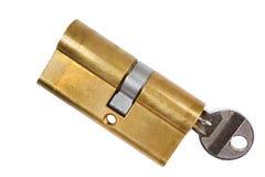 Cylinder safety lock Stock Image