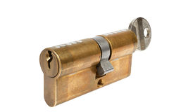 Cylinder safety lock Stock Photography