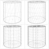 Cylinder From The Simple To The Complicated Shape Vector 05 Royalty Free Stock Photo