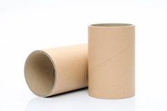 Cylinder tube. Isolated on white background royalty free stock photos