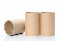 Cylinder tube. Isolated on white background stock image