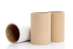 Cardboard tubes Royalty Free Stock Photos