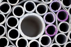 Cylinder tubes. From paper material with depth Royalty Free Stock Photography