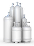 Cylinders with the compressed gases Royalty Free Stock Image