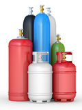 Cylinders with the compressed gases Stock Images