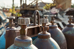 Cylinders Of Oxygen Stock Photos