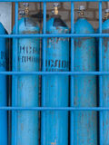 Cylinders with oxygen Stock Images