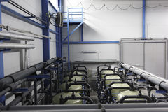 Cylinders of water treatment Stock Photography
