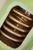 cylindervarmvatten Arkivbild