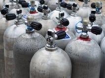 Cylindrar för dykapparatdykning Royaltyfria Foton