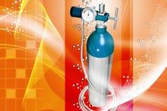 Cylindre d'oxygène Photo stock