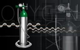 Cylindre d'oxygène Photographie stock libre de droits