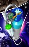 Cylindre d'oxygène Photo libre de droits