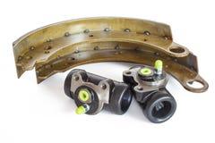 Cylindre de frein et patin de frein photographie stock