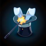Cylindre du magicien illustration libre de droits