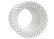 Cylindre r3fléchissant composé des sphères sur le blanc Photos stock