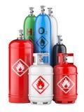 Cylindres avec le gaz comprimé illustration libre de droits