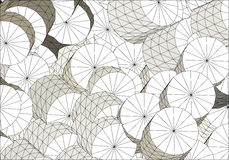 Cylindres blancs multiples de wireframe Photo stock