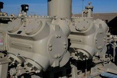 Cylindres de compresseur à gaz Photo stock